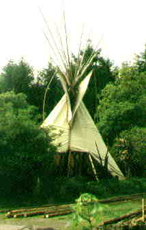 The Tipi is warm in Winter and cool in Summer